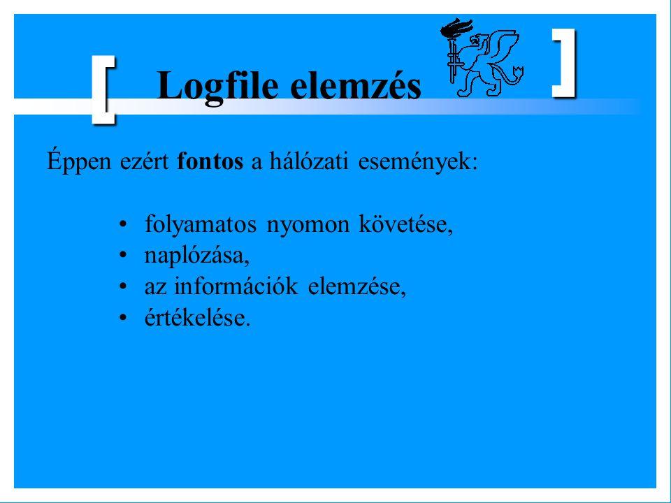 [ Logfile elemzés Éppen ezért fontos a hálózati események: